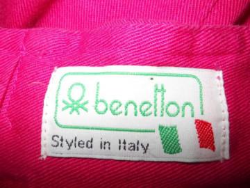 """Fusta jeans fucsia """"Benetton"""" anii '80"""