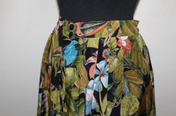 Fusta jungle print papagali anii '80