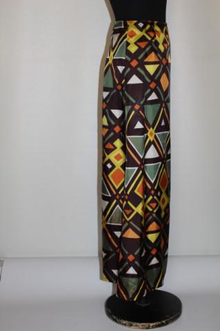 Fustă maxi model geometric vintage anii 60