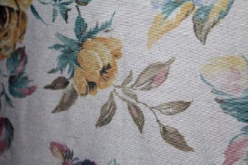 Fusta retro din faille print floral anii '80