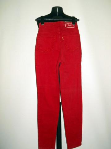 "Jeans rosu ""Teleria"" anii '90"