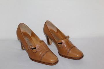"Pantofi maro cognac ""Bella Nora"" anii '70"