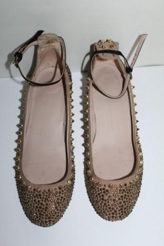Pantofi ținte aurii repro anii 60