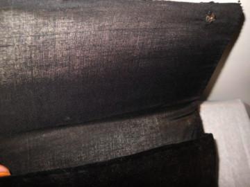 Plic de ocazie brodat cu paiete negre si verzi anii '40