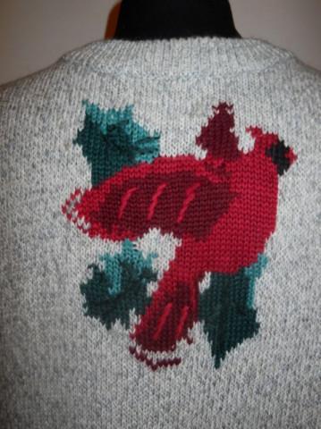 Pulover retro papagali anii '80
