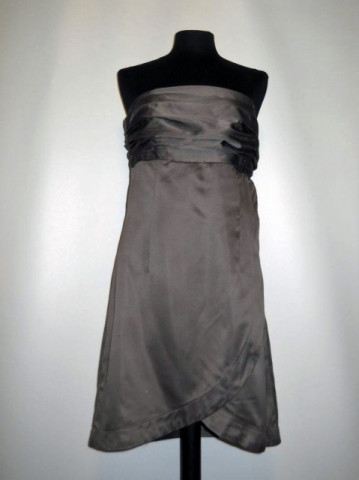 Rochie de ocazie din satin maro