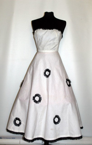 Rochie de ocazie vintage ornamente buntal anii '50