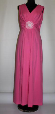 Rochie de seara vintage roz bonbon anii '60