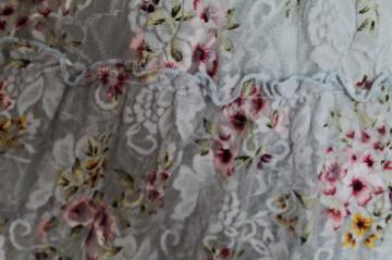 Rochie din dantela bleu print floral anii '90
