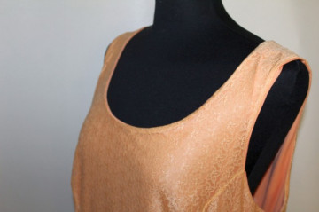 Rochie din dantelă portocalie repro anii 60