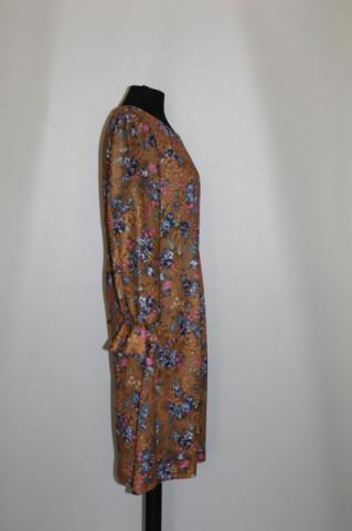 Rochie maro scortisoara print floral anii '60