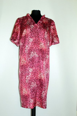 Rochie print abstract roz anii '60
