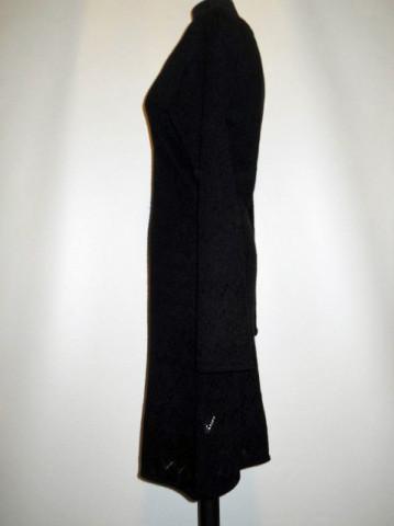Rochie retro din tricot negru anii '90