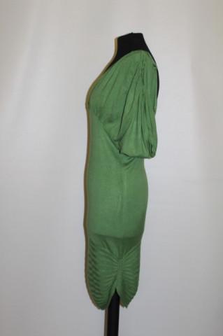 Rochie tricotata verde muschi repro anii '80