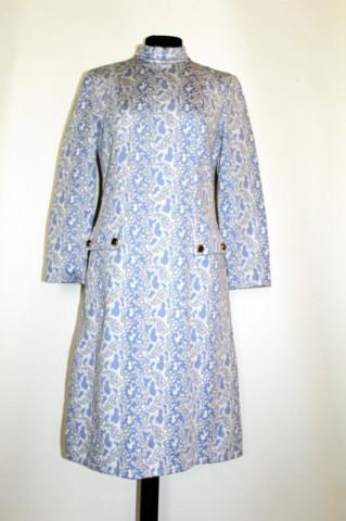 Rochie vintage albastra model in relief anii '60