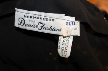 "Rochie vintage de ocazie ""Norman Berg"" anii '70"