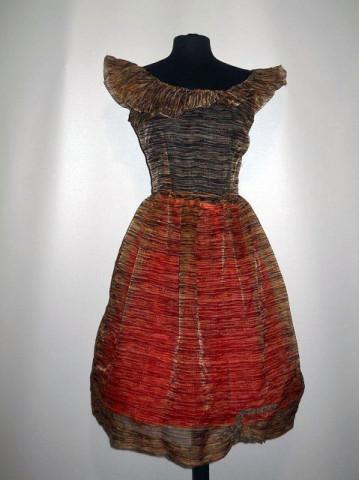 Rochie vintage din organza anii '50