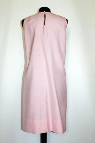 Rochie vintage din stofa roz anii '60