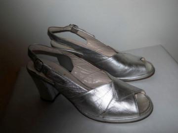 "Sandale argintii ""Monica"" anii '70"