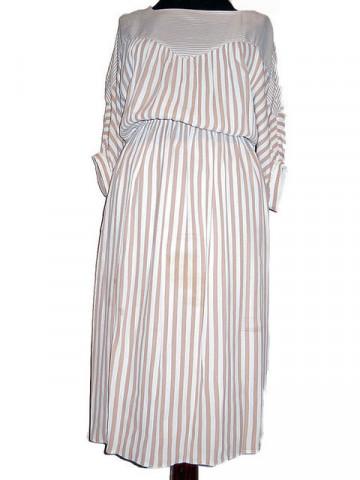 Rochie vintage cu dungi bej anii '70