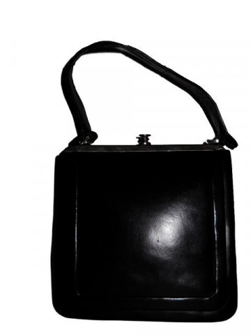 Poseta vintage dreptunghiulara neagra anii '40