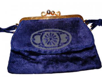 Poseta vintage bleumarin din plus anii '30