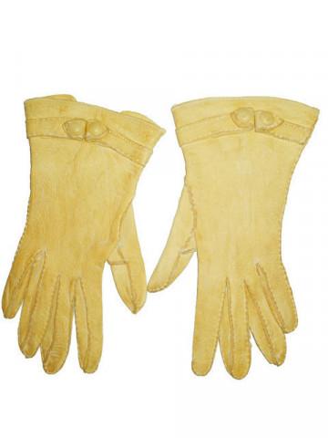 Manusi vintage galben vanilie anii '20