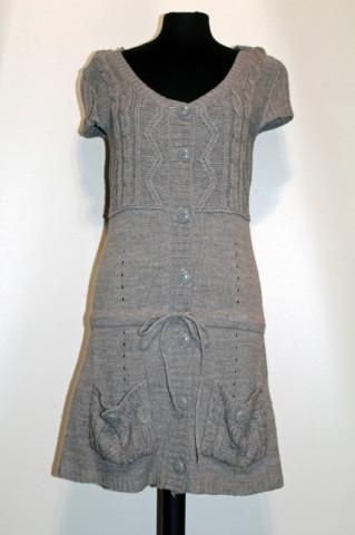 Rochie gri tricotata repro anii '70