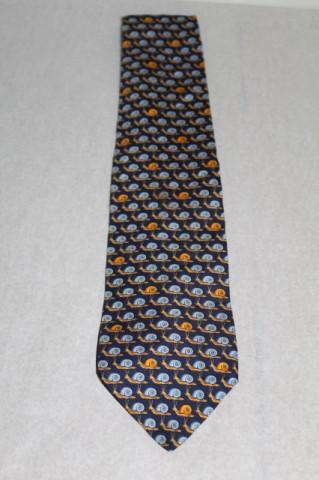 """Cravata print melci """"Beaufort"""" anii '70"""