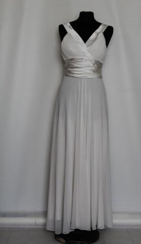 Rochie de seara alba bust plisat repro anii '70