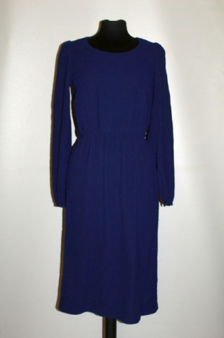 Rochie vintage bleumarin plisată anii 70