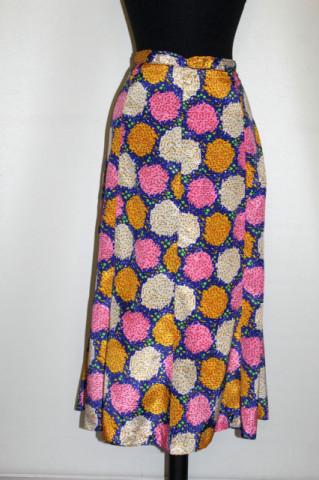 Fustă print abstract multicolor anii 70