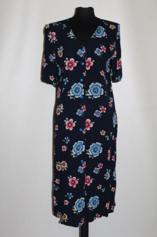 Rochie din pânză topită print floral anii 90