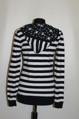 Bluză dungi cu glugă repro anii 70