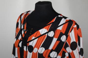 Bluza dungi si buline portocalii anii '90