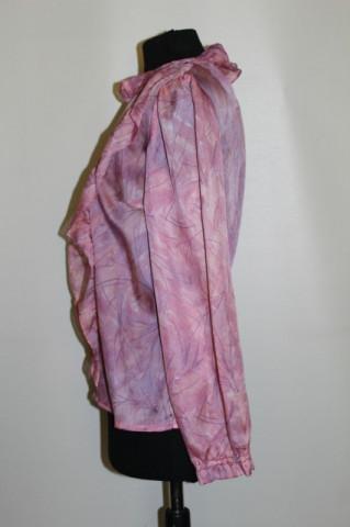 Bluza roz volanase anii '70