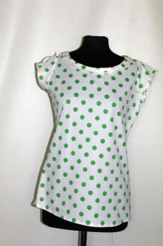 Bluză vintage buline verzi anii 70