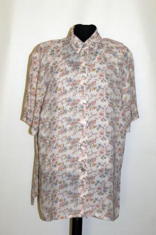 Cămașă cu suprapuneri print floral anii 80-90