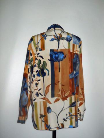 Camasa retro flori albastre anii '80