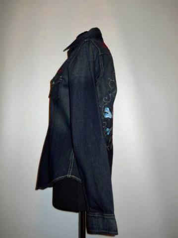 "Camasa retro jeans ""Christian Audigier"" anii '90"