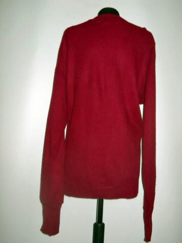 "Cardigan rosu ""Lacoste"" anii '70"