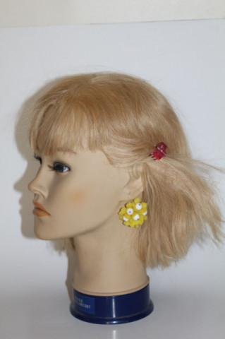 Cercei floare galbenă anii 60