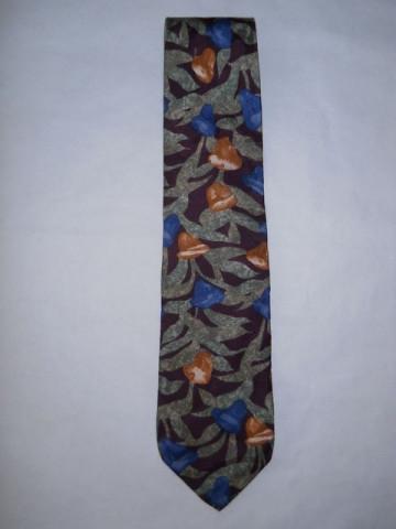 """Cravata retro print vegetal """"Bugatti"""" anii '80"""