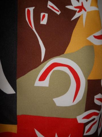 Esarfa vintage print abstract anii '70