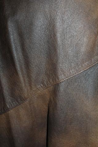 Fustă din piele naturală maro anii 70-80