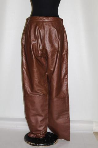 Pantaloni retro din piele maro anii '80