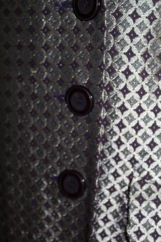 Pardesiu din brocart model geometric repro anii 70