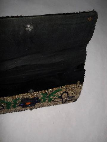 Plic de ocazie vintage  brodat cu paiete anii '30