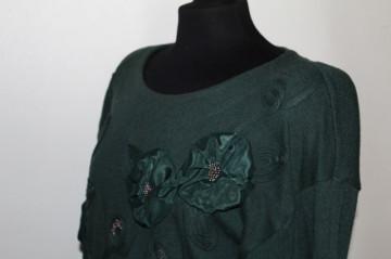 Pulover retro verde inchis anii '80