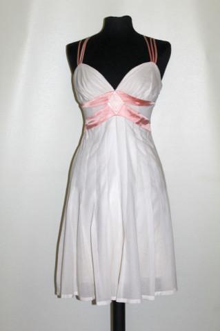Rochie Bebe alb și roz